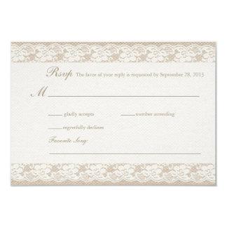Burlap & Lace RSVP Card Personalized Invites