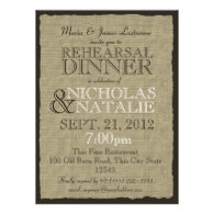 Burlap Look Rehearsal Dinner Personalized Invites