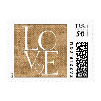 Burlap Love Postage