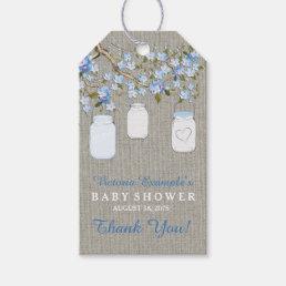 Burlap Mason Jar Baby Shower Gift Tags