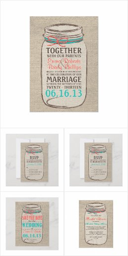 Burlap Mason Jar | Wedding Collection