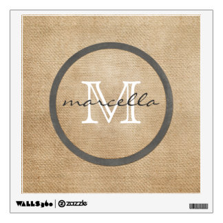 Burlap Monogram Wall Decal