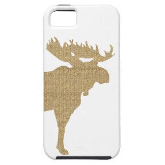 Burlap Moose iPhone 5 Case