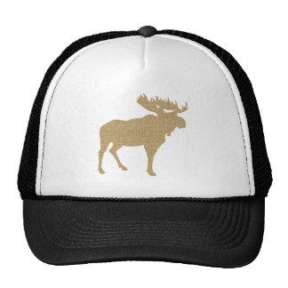 Burlap Moose Trucker Hat
