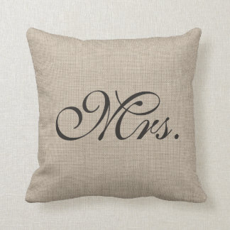 Burlap Mrs. Pillow