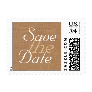 Burlap Party Lanterns Save the Date Stamp