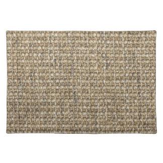 Burlap pattern cloth placemat