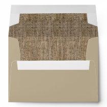 Burlap Pattern Wedding Envelopes