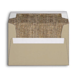 Burlap Pattern Wedding Envelopes