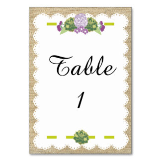 Burlap Placecard Table Cards