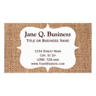 Burlap Print Business Card Templates