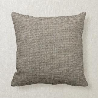 Burlap Print Pillow