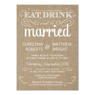 burlap rustic country wedding invitations - Burlap Wedding Invitations
