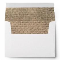 Burlap Rustic envelope