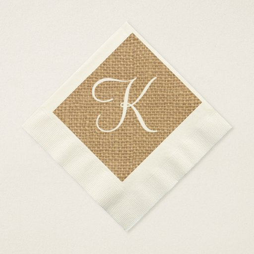 Rustic Wedding Napkins: Wedding Paper Napkins