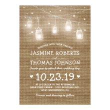Burlap Rustic Mason Jar String Lights Wedding