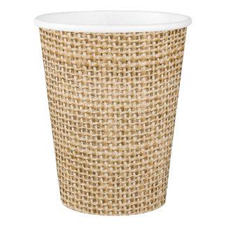 Burlap Rustic Paper Beverage Cups Paper Cup