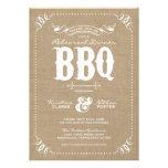 Burlap Rustic Vintage Chic Rehearsal Dinner BBQ Invites
