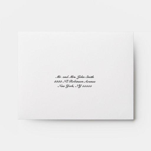 Burlap Rustic Wedding RSVP Envelope