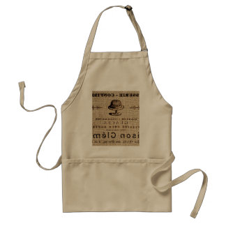 burlap scripts shabby chic french country cake adult apron