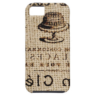 burlap scripts shabby chic french country cake iPhone SE/5/5s case