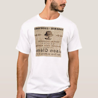 burlap scripts shabby chic french country cake T-Shirt