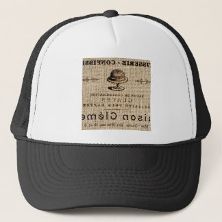burlap scripts shabby chic french country cake trucker hat