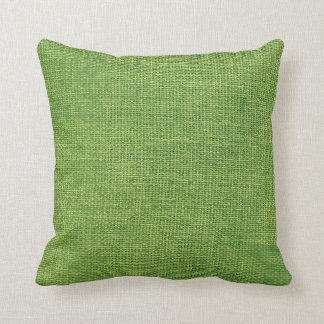 Burlap Simple Apple Green Throw Pillow