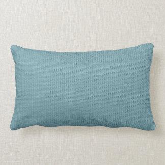Burlap Simple Cadet Blue Lumbar Pillow