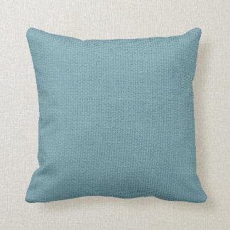 Burlap Simple Cadet Blue Throw Pillow
