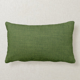 Burlap Simple Dark Green Throw Pillows