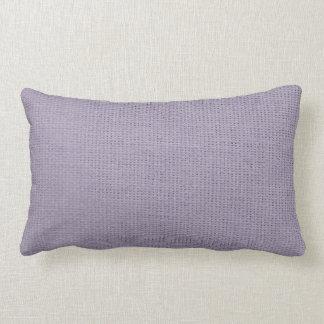 Burlap Simple Lilac Lumbar Pillow