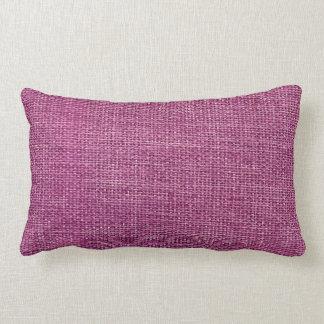 Burlap Simple Magenta Lumbar Pillow
