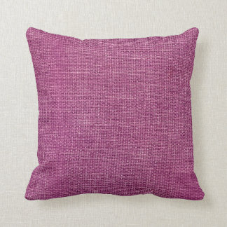 Burlap Simple Magenta Pillows