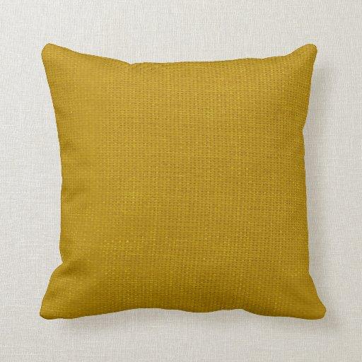 burlap simple mustard yellow throw pillow zazzle. Black Bedroom Furniture Sets. Home Design Ideas