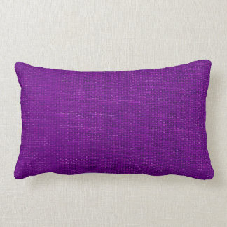 Burlap Simple Purple Lumbar Pillow