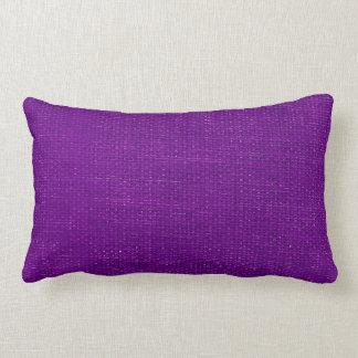 Burlap Simple Purple Lumbar Pillow