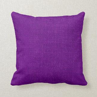 Burlap Simple Purple Pillows