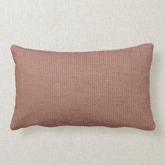 Burlap Simple Salmon Pink Lumbar Pillow