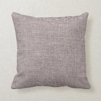 Burlap Simple Taupe Throw Pillow