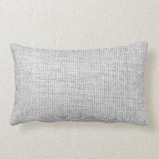 Burlap Simple White Lumbar Pillow