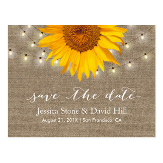 Sunflower Save The Date Postcards | Zazzle