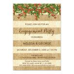 Burlap Stripes and Christmas Yaupon Holly Card