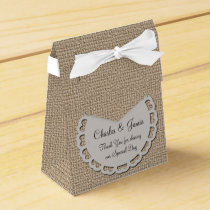 Burlap Tent Favor Box
