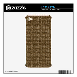 Burlap Texture Background Decals For The iPhone 4