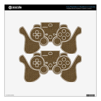 Burlap Texture Background Skin For PS3 Controller
