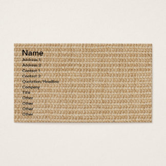 Natural fiber business cards templates zazzle burlap texture business card reheart Images