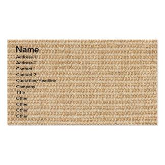 Burlap texture business card