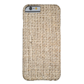 Burlap texture barely there iPhone 6 case