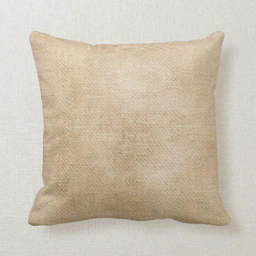 Burlap Texture Look Throw Pillow Zazzle